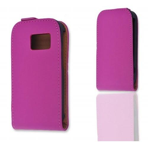 Teleplus Nokia Asha 302 Dikey Kılıf ( Pembe )