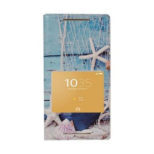 Teleplus Sony Xperia Z5 Desenli Pencereli Kılıf Deniz