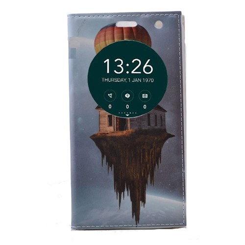 Teleplus Asus Zenfone Go 5 İnç Pencereli Desenli Kılıf Uçan Ev