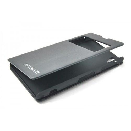 Teleplus Sony Xperia Z1 Pencereli Kılıf Siyah