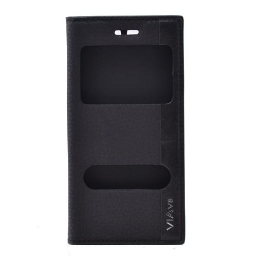 Teleplus Casper Via V8 Çift Pencereli Kılıf Siyah
