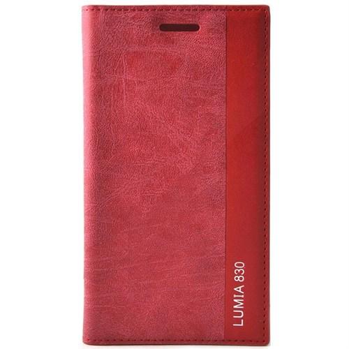 Teleplus Nokia Lumia 830 Flip Cover Kılıf Kapak Kırmızı