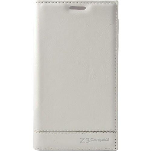 Teleplus Sony Xperia Z3 Mini Flip Cover Kılıf Beyaz