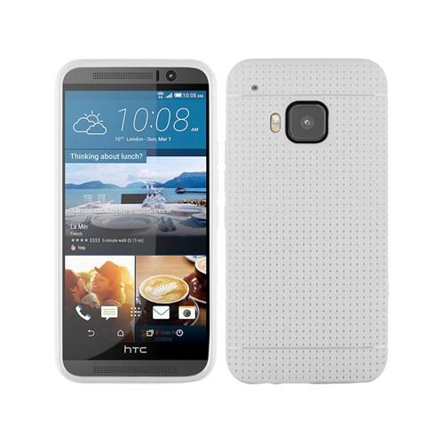 Teleplus Htc One M9 Benekli Silikon Kılıf Beyaz