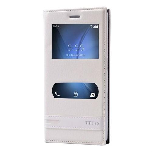 Teleplus Turk Telekom Tt175 Çift Pencereli Lüx Kılıf Beyaz