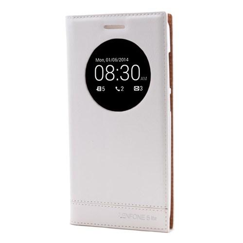 Teleplus Asus Zenfone 5 Lite Lüx Pencereli Kılıf Beyaz
