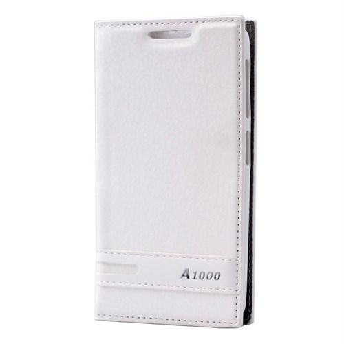 Teleplus Lenovo A1000 Mıknatıslı Lüx Kılıf Beyaz