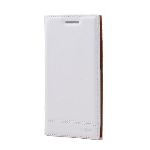 Teleplus Htc One M8 Mini Lüx Flip Cover Kılıf Beyaz