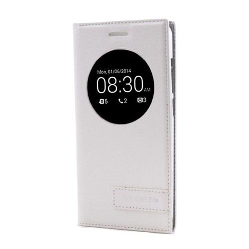 Teleplus Asus Zenfone 5 Lite Pencereli Kılıf Beyaz