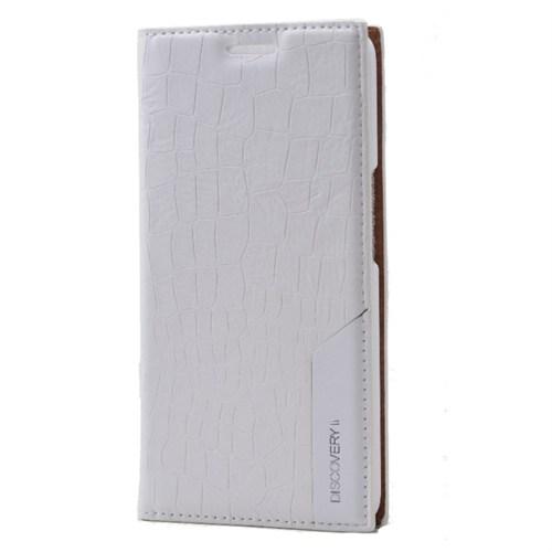 Discovery 2 Flip Cover Benekli Kılıf Beyaz