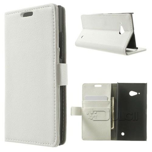 Teleplus Nokia Lumia 735 Cuzdanlı Kılıf Beyaz