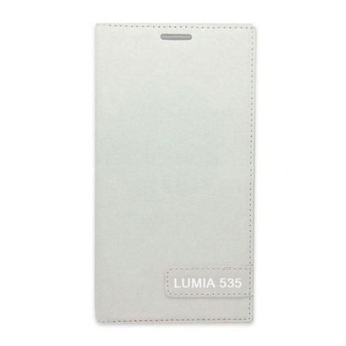Teleplus Nokia Lumia 535 Flip Cover Kılıf Beyaz