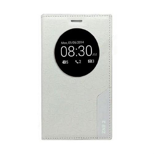 Teleplus Asus Zenfone 2 Pencereli Lüx Kılıf Beyaz