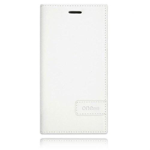Teleplus Htc One M9 Flip Cover Kılıf Beyaz