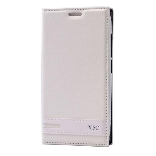 Teleplus Huawei Y5c Lüx Mıknatıslı Kılıf Beyaz