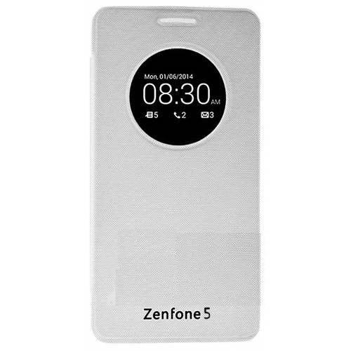 Teleplus Asus Zenfone 5 Pencereli Uyku Modlu Kılıf Beyaz