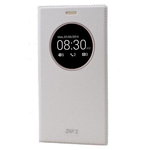 Teleplus Asus Zenfone 2 Dolce Pencereli Kılıf Beyaz