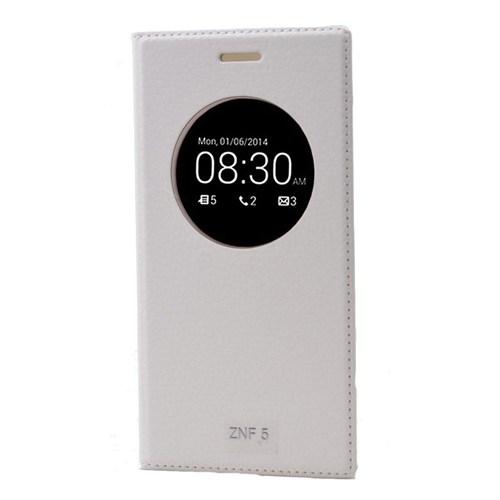 Teleplus Asus Zenfone 5 Dolce Pencereli Kılıf Beyaz