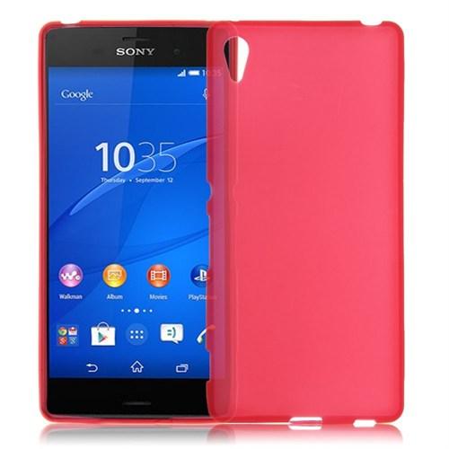 Teleplus Sony Xperia Z4 Silikon Kılıf Kırmızı