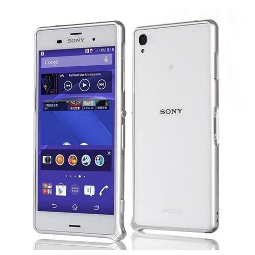 Teleplus Sony Xperia Z3 Metal Çerçeveli Kılıf Gümüş Renk