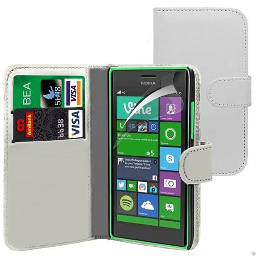 Teleplus Nokia Lumia 830 Cüzdanlı Kılıf Beyaz