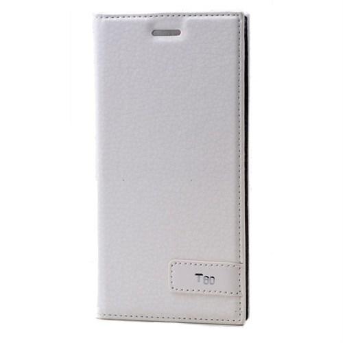 Teleplus Turkcell T60 Mıknatslı Flip Cover Kılıf Beyaz