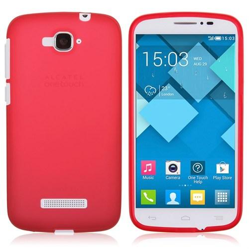 Alcatel Pop 7 Silikon Kılıf Kırmızı