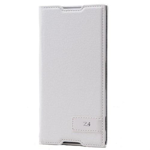 Teleplus Sony Xperia Z4 Safir Flip Cover Kılıf Beyaz