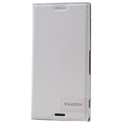 Teleplus Sony Xperia M4 Aqua Flip Cover Kılıf Beyaz