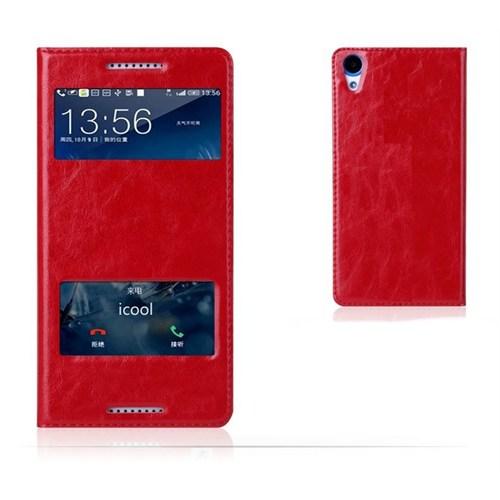 Teleplus Htc Desire 820 Çift Pencereli Dolce Kılıf Kırmızı