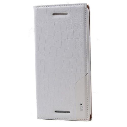 Teleplus Htc Desire 826 Benekli Flip Cover Kılıf Beyaz