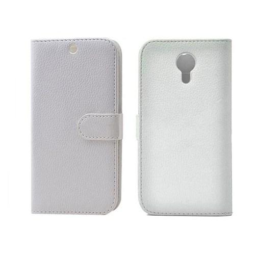 Android One 4G Cüzdanlı Kılıf Beyaz