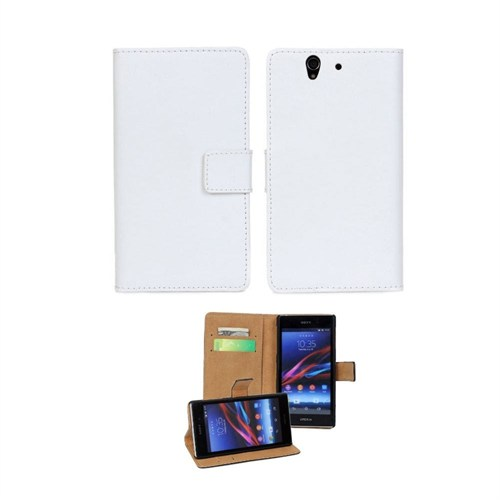 Teleplus Sony Xperia Z3 Mini Cüzdanlı Kılıf Beyaz