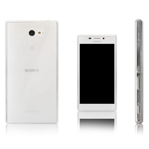 Teleplus Sony Xperia M2 Silikon Kılıf Şeffaf
