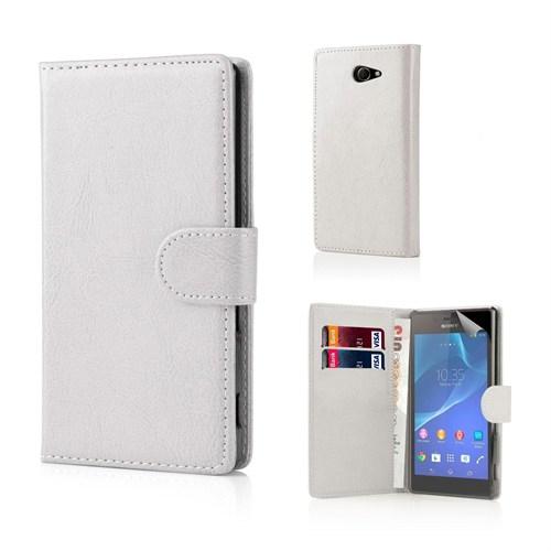 Teleplus Sony Xperia M2 Cüzdanlı Kılıf Beyaz