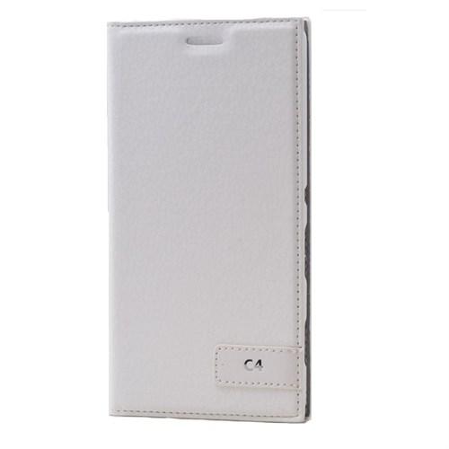 Teleplus Sony Xperia C4 Flip Cover Kılıf Beyaz