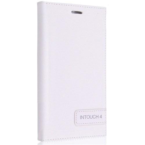 Teleplus Avea İntouch 4 Flip Cover Kılıf Beyaz