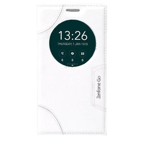 Teleplus Asus Zenfone Go Pencereli Özel Kılıf Beyaz