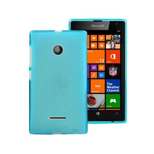 Teleplus Microsoft Lumia 532 Silikon Kılıf Mavi