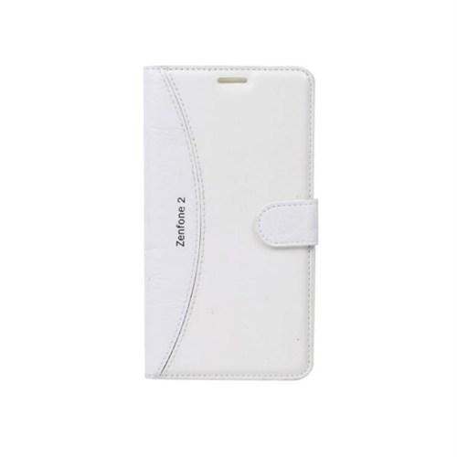 Teleplus Asus Zenfone 2 Laser 5.5 İnç Lüx Desenli Kılıf Beyaz