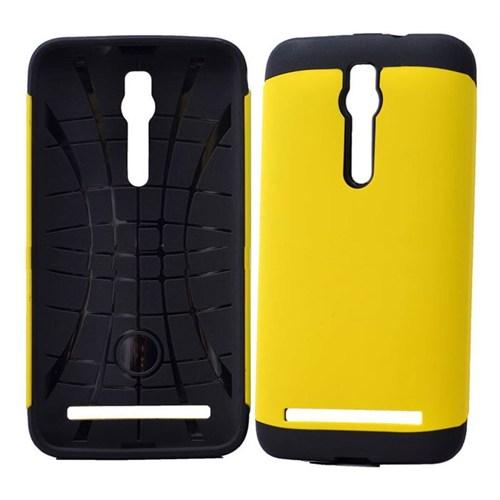 Teleplus Asus Zenfone 2 Çift Katmanlı Korumalı Kılıf Sarı