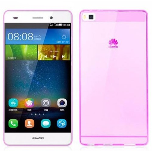 Teleplus Huawei Ascend P8 Lite Pembe Silikon
