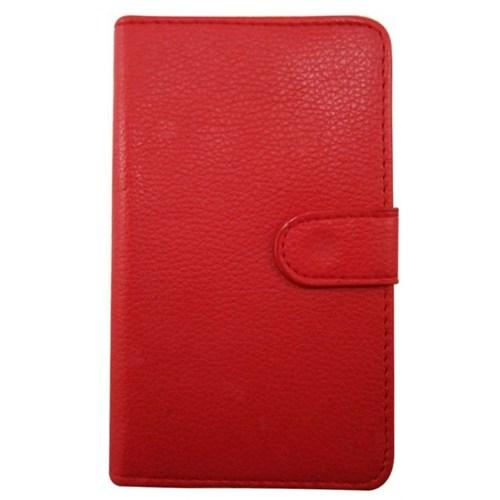 Teleplus Nokia Lumia 1020 Kırmızı Cüzdanlı Deri Kılıf