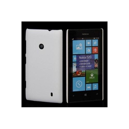 Teleplus Nokia Lumia 520 Rubber Kılıf Kapak Beyaz