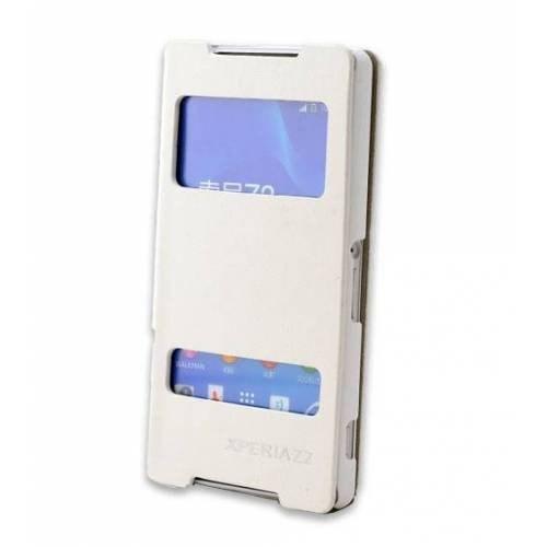 Teleplus Sony Xperia Z2 Pencereli Kılıf Beyaz