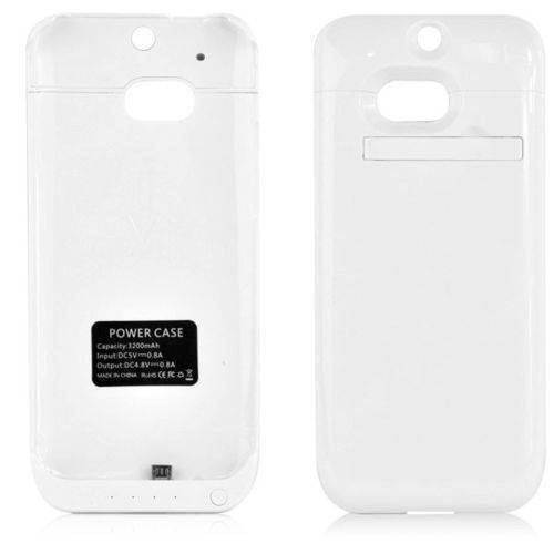 Teleplus Htc One M8 Şarjlı Kılıf Beyaz