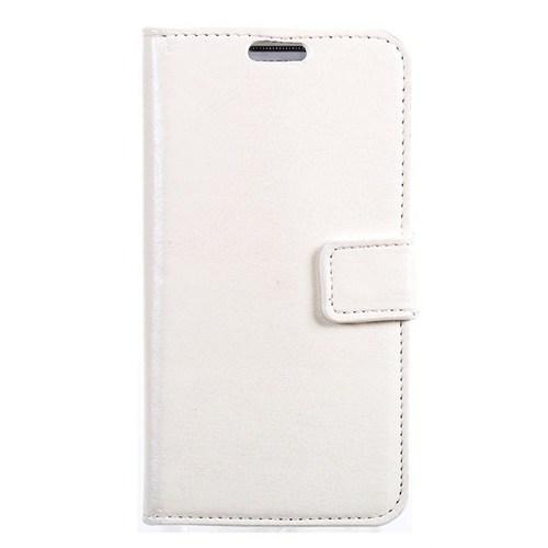Teleplus Nokia Lumia 520 Cüzdanlı Beyaz Kılıf