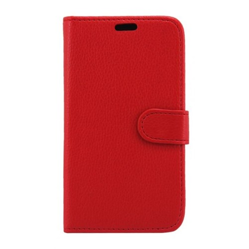 Teleplus General Mobile Discovery Kırmızı Cüzdanlı Deri Kılıf