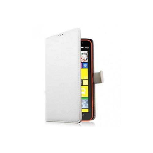 Teleplus Nokia Lumia 1320 Cüzdanlı Kılıf Beyaz