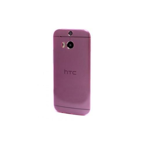 Teleplus Htc One M8 Ultra İnce Silikon Kılıf Pembe